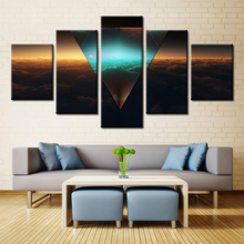 Triangle Artwork Landscape Europe Spray Home Decor Frameless Oil Painting Drawing Canvas Picture Wall Art 5pcs