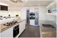 Новый Дизайн 2016 Современная Модульная кухонный шкаф настраивает 2Pac белая Кухонная Мебель Шкаф Блока