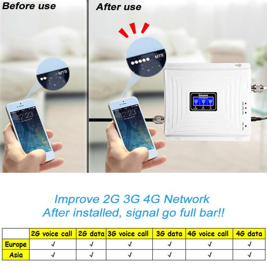 Amplificador de señal 4G GSM 2G 3G 900 1800 2100 Repetidor WCDMA Banda triple Lintratek kw20c gdw Celular 65dB LTE Amplificador de teléfono celular Caliente 2G 3G 4G Tri banda GSM900 celular amplificador de señal