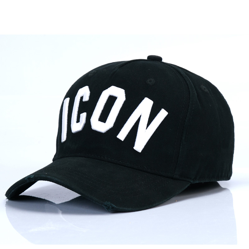 DSQICOND2 Brand DSQ Casquette Hats Solid Pattern Hats Letters ICON Casquette Dad Hip Hop   Baseball     Cap   Snapback   Cap   for Man Woman