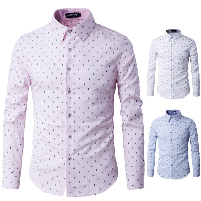 2016 Mens Business Shirts Casual Slim Long Sleeve Dresse Shirts Camisa Masculina Shirts Asian Cotton patchwork 66927