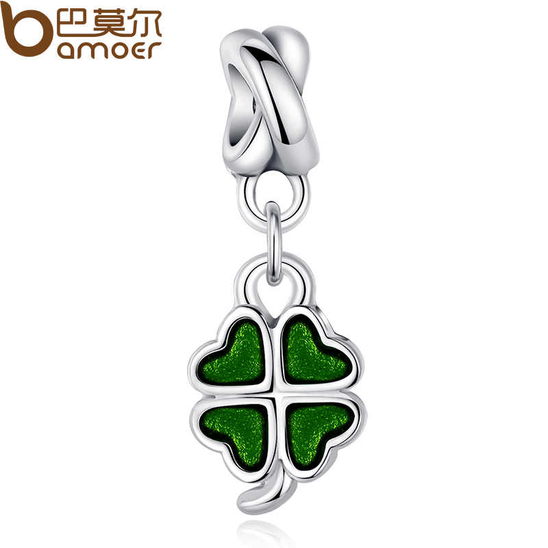 6 colors silver color good luck four leaf clover pendant charm fit 6 colors silver color good luck four leaf clover pendant charm fit bracelet necklace bead accessories purple enamel pa5275 in beads from jewelry mozeypictures Image collections