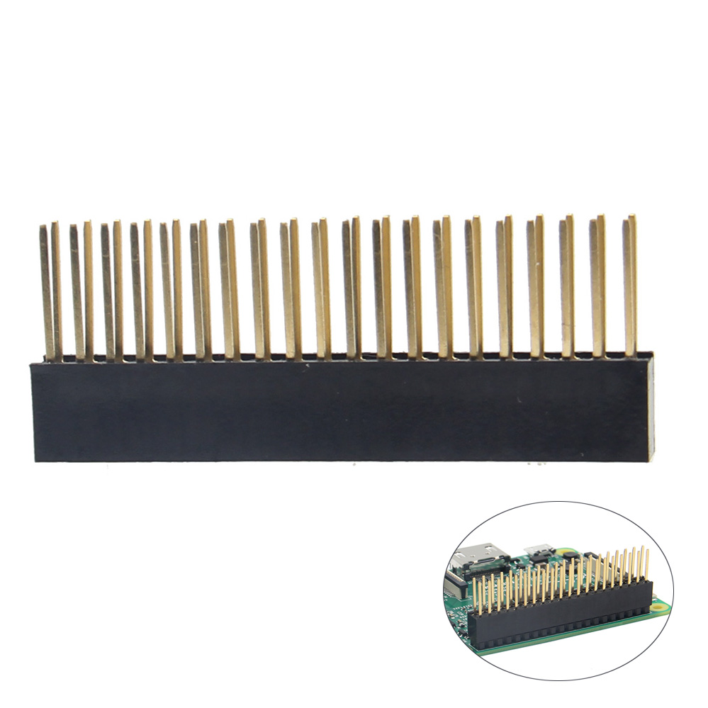 2 Pieces/Lot Raspberry Pi 3 2x20 Gilded Female Header GPIO 40pin Female Header For Raspberry Pi 3 Model B/ 2b /b+