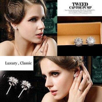 Fashion Jewelry Crown Women Classic Shining Zircon Small Stud Earrings Gold Color Ears Stud For Men Crystal Earrings WE132 4