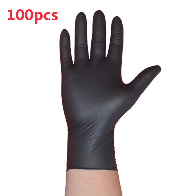 100PCS/SET Household Cleaning Washing Disposable Mechanic Gloves Black Nitrile Laboratory Nail Art Anti-Static Gloves trussardi trussardi jeans