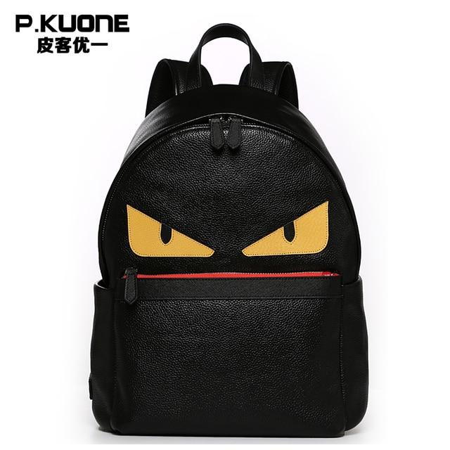 Men Genuine Leather Backpacks Fashion Designer Travel Backpacks ...