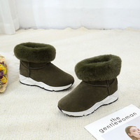 The New Winter Boots Female Star With A Flat With Snow Boots Warm Fashion Shoes 2017