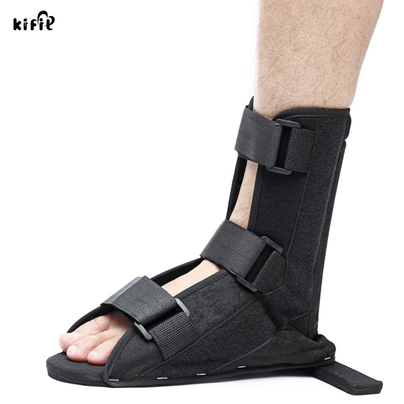 KIFIT 1Pcs Black Soft Splint Boot Brace Ankle Support For Tendinitis Plantar Fasciitis Heel Spurs Fixed Orthotics Nursing Care