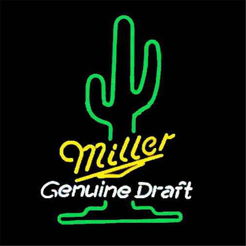 """17*14 """"miller Echtes Entwurf Neonzeichen Real Glas Bier Bar Pub Licht Zeichen Shop-display Restaurant Shop Werbung Lichter Moderater Preis"""