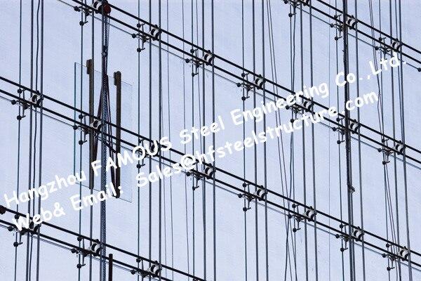 Punto De Cristal Fijo Sistema Cortina Paredes Cable