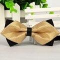 SHENNAIWEI 2016 новый мужской классический галстук-бабочка solid gold цвет жених свадебные bowties роскошные много оптовая