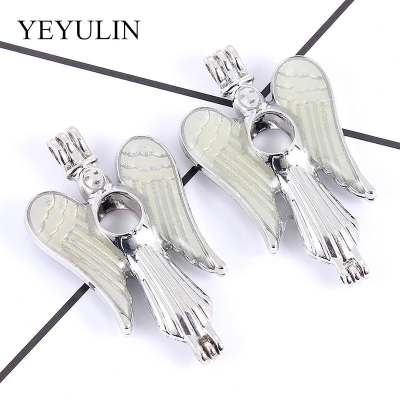 5X Black Winged Dragon Perle Cage Médaillon Pendentif Huile Parfum Diffuseur Collier