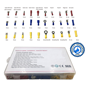 Image 2 - 900PCS Mixed Assorted Lug Kit Crimp Connectors Insulated Electrical Crimp Terminals with 18 Sizes Electrical Wire Connector Set