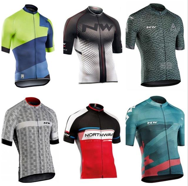 NW 2018 רכיבה על אופניים ג 'רזי חולצות קיץ מירוץ Ciclismo Ropa ביגוד רכיבה קצר שרוול mtb אופני ג' רזי חולצת מאיו Ciclismo