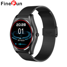 FineFun TF3 Smart Watch MTK2502 Round Screen Support Heart Rate Monitoring Bluetooth Call Pedometer For IOS Android