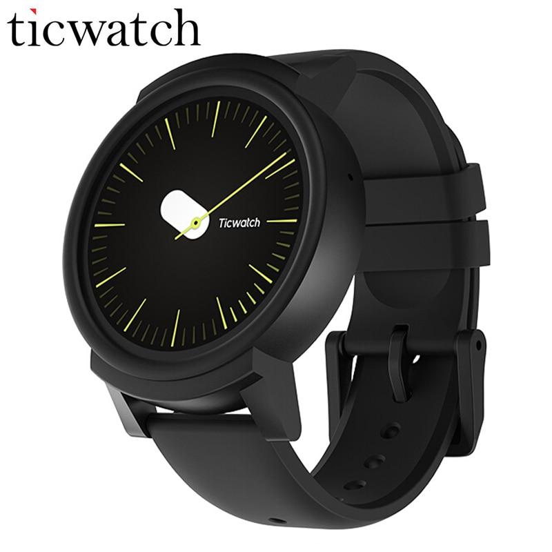 Оригинальный Ticwatch E Expres Смарт-часы Android Wear OS MT2601 двухъядерный Bluetooth 4,1 wifi gps Smartwatch телефон IP67 водостойкий