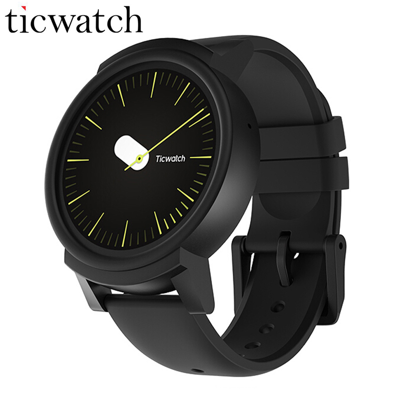 D'origine Ticwatch E Expres montre connectée android Wear OS MT2601 Dual Core Bluetooth 4.1 WIFI GPS téléphone montre intelligente IP67 Étanche