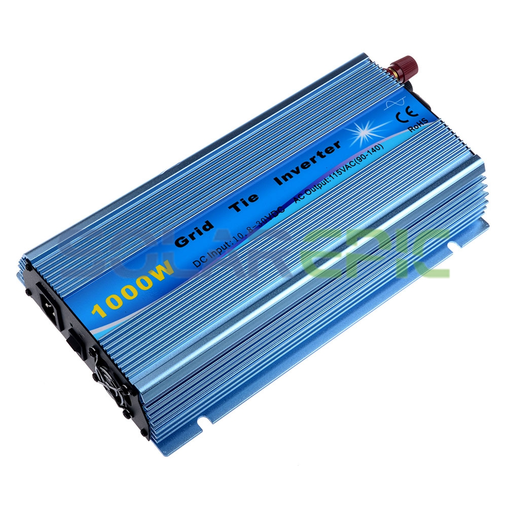 Grid Tie Inverter 1000W Pure Sine Wave Power Inverter DC18V to AC110V Output Fit for 18V Panel For 36cells Solar Inverter 600w grid tie inverter lcd 110v pure sine wave dc to ac solar power inverter mppt 10 8v to 30v or 22v to 60v input high quality