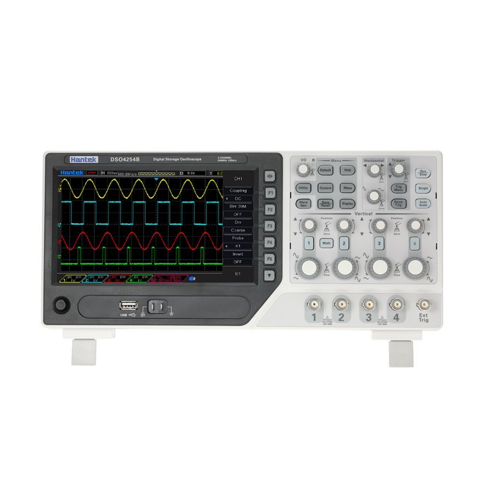 Hantek Official DSO4254B Digital Oscilloscopes USB 4 Channels PC Handheld Portable Osciloscopio Portatil Diagnostic-tool hantek 6022bl pc usb oscilloscopes digital portable 2channels 20mhz bandwidth osciloscopio portatil 16channels logic analyzer page 2