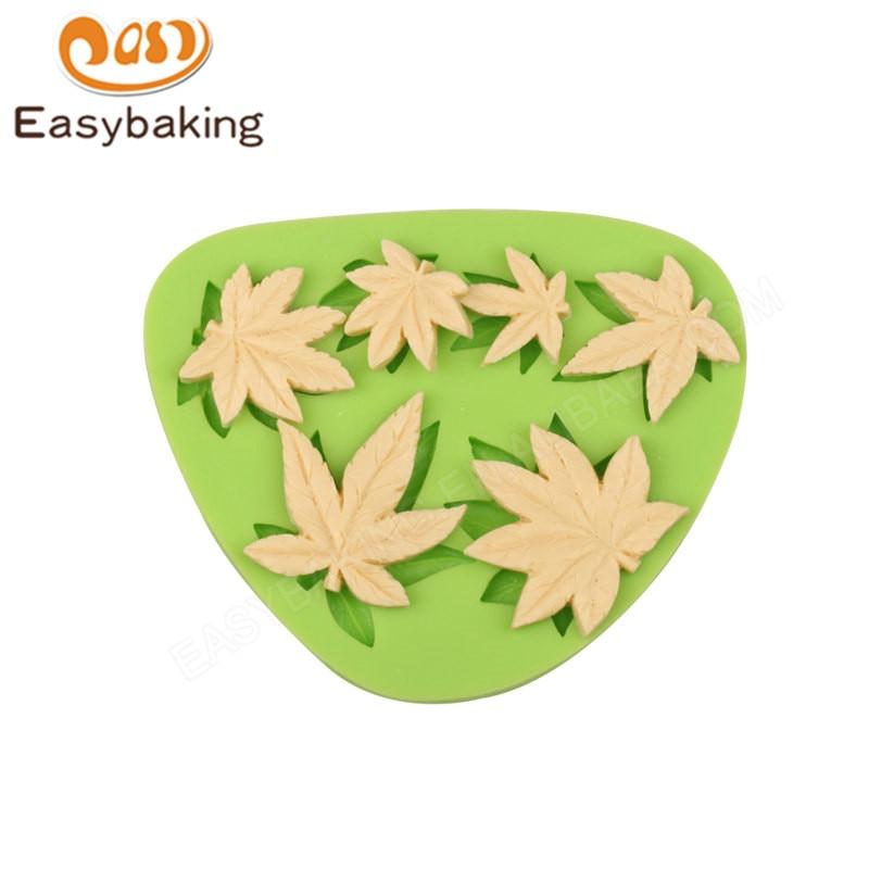 Красива кленови листа форма силиконова мазилка мухъл за фондант торта декорация Sugarcraft плесен Bakware Инструменти