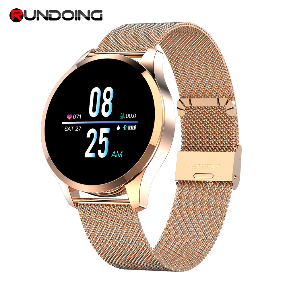 RUNDOING Q9 Smart Watch Waterproof Heart Rate monitor Smartwatch men fashion Fitness Tracker for android and IOS new garmin watch 2019