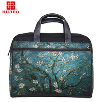 Factory Selling Customization Cotton Canvas Women Laptop Bag 13 15 17 Notebook Case Bag For Macbook