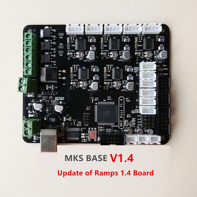 free shipping new 3d printer motherboard mks base v1 4 controller  free shipping new 3d printer motherboard mks base v1 4 controller board for dual