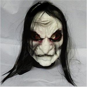 Image 1 - Halloween Zombie Mask Props Grudge Ghost Hedging Zombie Mask Realistic Masquerade Halloween Mask Long Hair Ghost Scary Mask