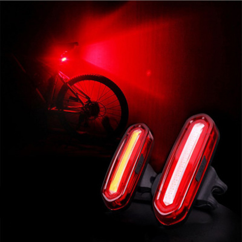 150 LM Bike Bicycle USB Rechargeable COB LED Mountain Rear Comet Bike Tail Light MTB Safety Warning Rear Light Lamp