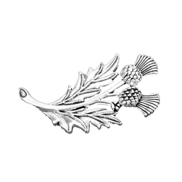 TV Outlander bijoux ecosse chardon fleur épée croix broches amulette Badge broche écharpe épingles accessoires cadeau