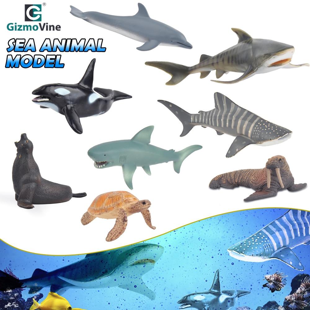 Plastic Model Sea Animal Ocean Whale Dolphin Toys Decoration Craft Simulation