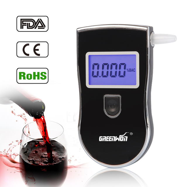 2015 NEW Hot selling Professional Police Digital Breath Alcohol Tester Breathalyzer AT818 Free shipping Dropshipping