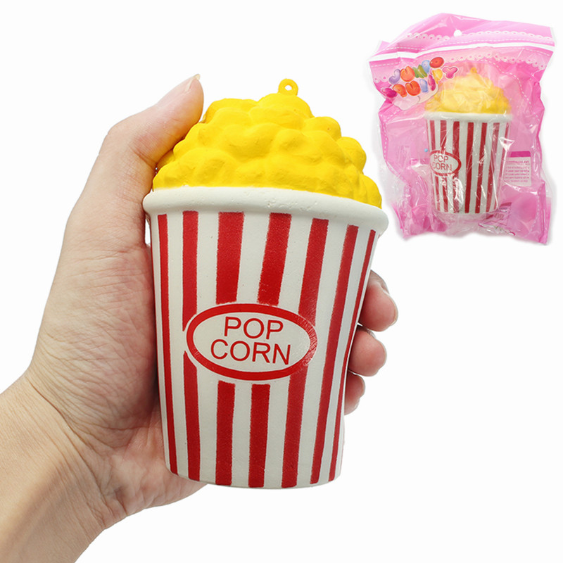 New Arrival Squishys Pop Corn 12cm Soft Slow Rising 8s With Packaging Collection Gift Decor Toy