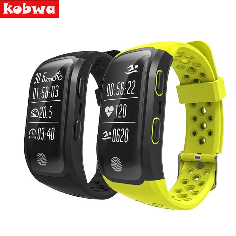 S908 Heart Rate Smart Wristband IP68 GPS Track Record Smart Band 2 Sleep Pedometer Bracelet Fitness