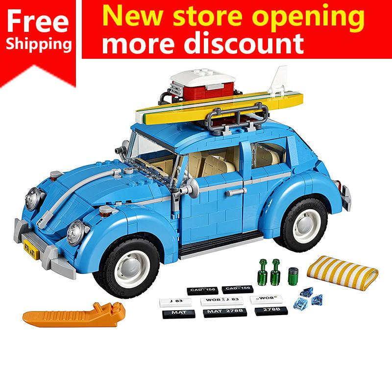 Popular Educational Gifts Science And Technology  Beetle Automobile Car Model Building Blocks  Legoing Technic Toys For Kids