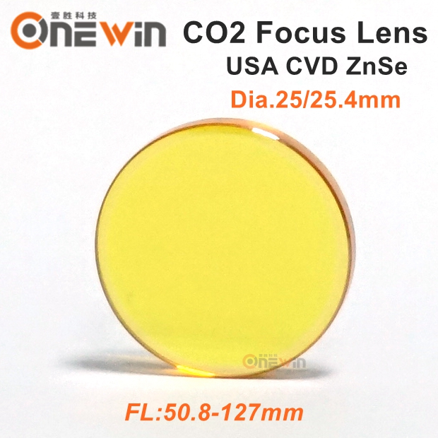 USA ZnSe CO2 laser lens 25mm 25.4mm focus length 50.8 63.5 76.2 101.6 127mm for laser engraving machine 28mm usa znse focus lens for co2 laser 127mm focal length co2 laser lens page 5