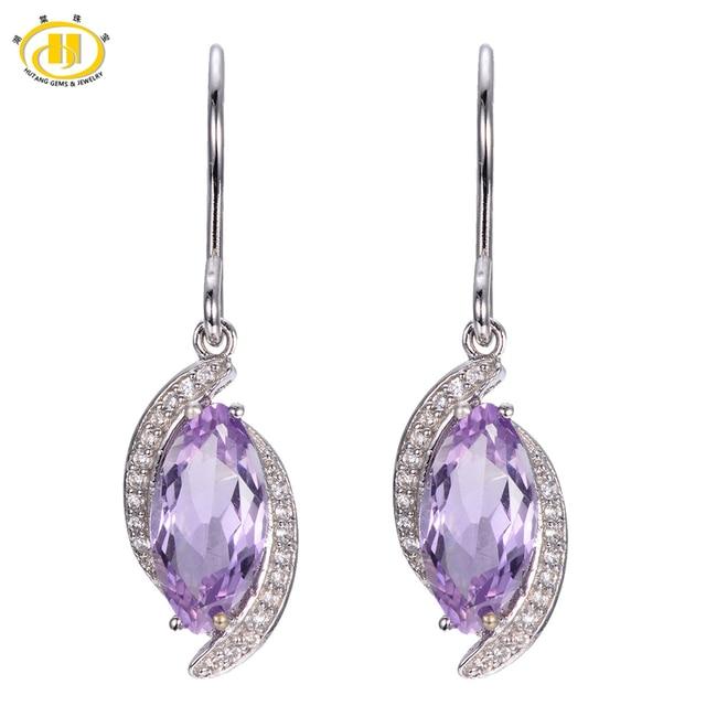 Fine Jewelry Purple Amethyst Sterling Silver Drop Earrings gDDjsN