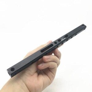 """Image 4 - 15mm גבינת מוט 200mm ארוך עם 1/4 """"בורג חורים אלומיניום סגסוגת עבור DSLR מצלמה Rig"""