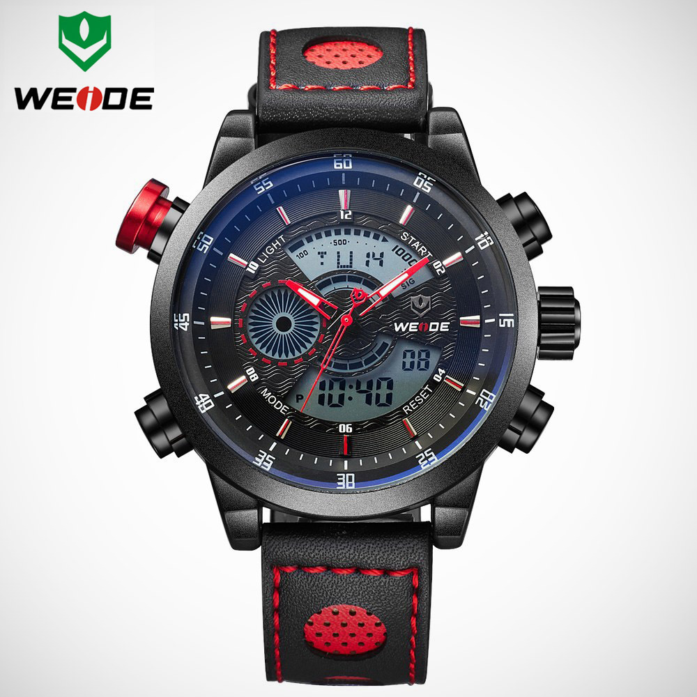2018 NEW WEIDE Men's Luxury Brand Quartz LED Sports Watch 1