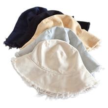 Женские головные уборы Харадзюку, Панама, шляпа для рыбалки, уличная Панама, хип-хоп кепка, мужская летняя шапка для рыбака, женская шапка