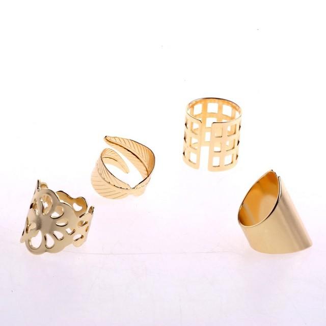 Mid Finger Knuckle Ring Set