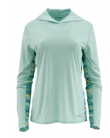 2018 Spring Autumn Si s Women Solarflex Hoody Print Fishing Shirt Quick dry UPF50 Sports Shirt