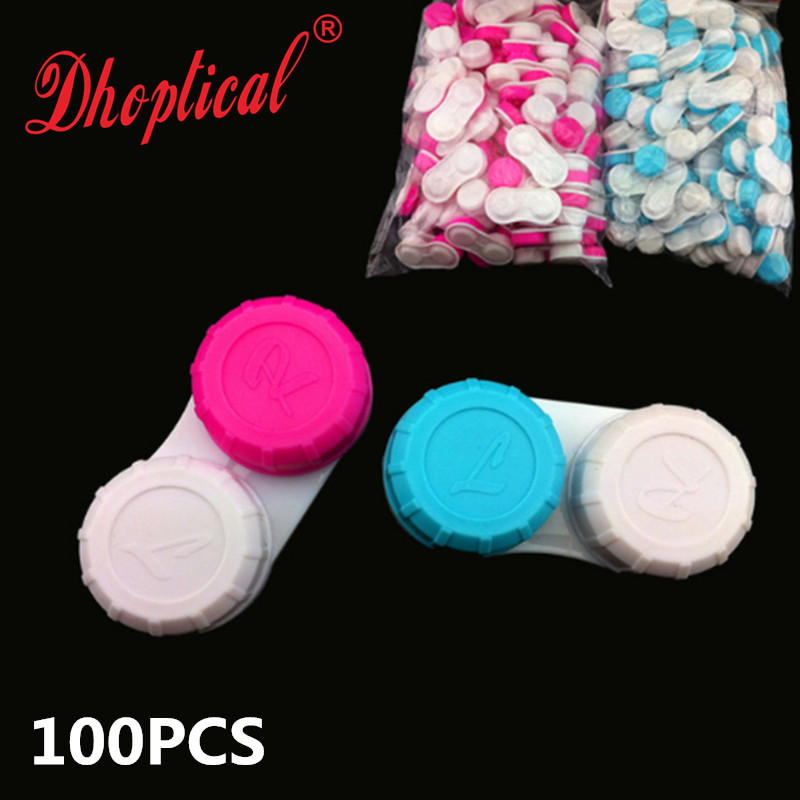 free shipping contact lens case 100pcs good quality