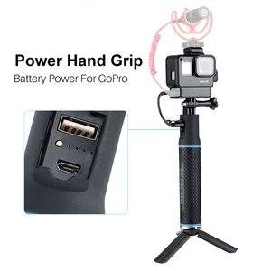 Image 3 - ハンドグリップバッテリー移動プロヒーロー 7 6 5 5200 5600mah バッテリー充電器パワー銀行グリップハンドヘルド一脚 Selfie スティックアクションカメラ用