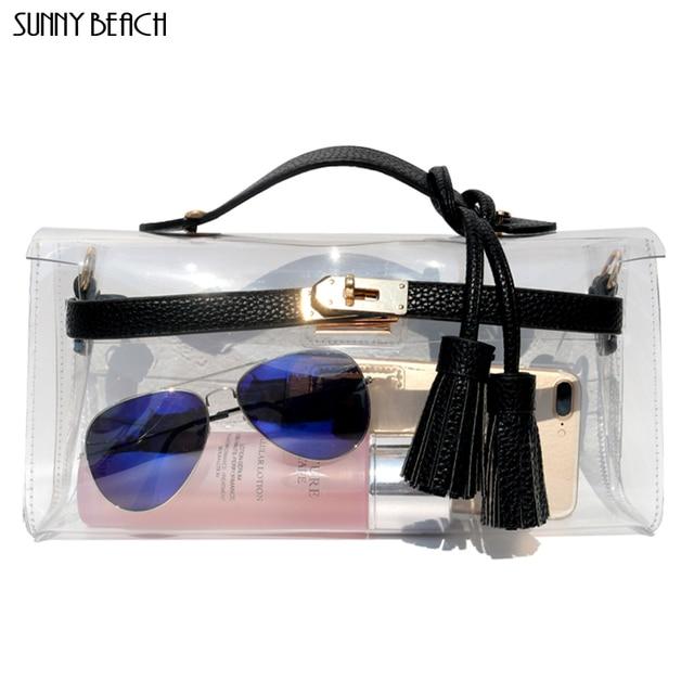 SUNNY BEACH Women Luxury Handbags Women Bags Designer Purse Clear women Bag Day Clutch Purse Female Messenger Bag