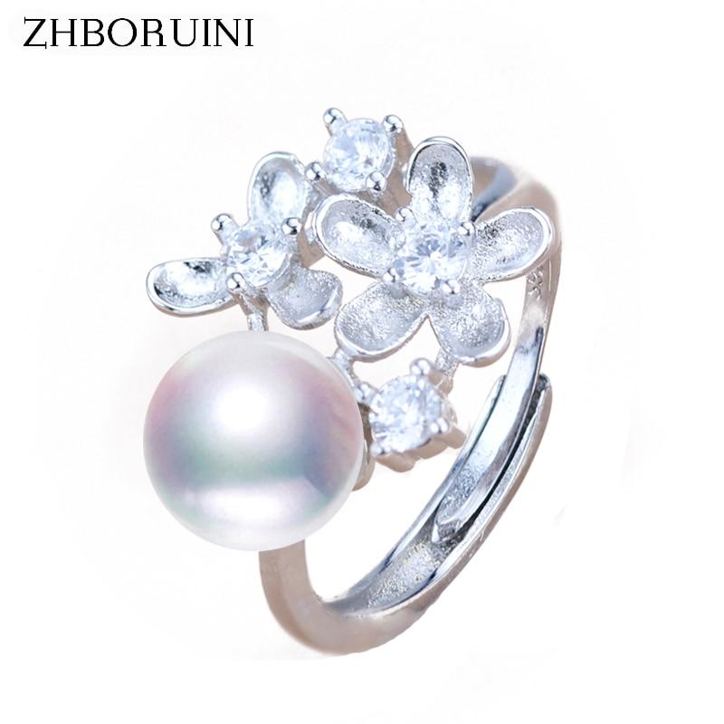 Generous Schmuck-stck Ring 925 Silber Neu Suesswasser Perle S Elegant In Style Ringe