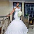 2016 Berydress Auto-design feito À Mão Beading Completo África Sexy Envoltório Vestidos De Novia Lace up Tulle vestidos de Casamento Noivas Vestido Mais tamanho