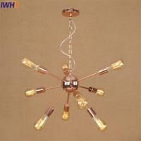 Loft Style Rose Gold Plating Droplight Edison Industrial Vintage Pendant Light LED Fixtures For Dining Room Hanging Lamp