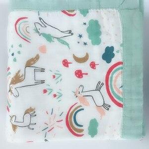 Image 3 - ผลไม้สี่ชั้นไม้ไผ่ muslin ผ้าห่ม Muslin Tree swaddle ดีกว่า Aden Anais เด็ก/ผ้าห่มเด็กทารกห่อ