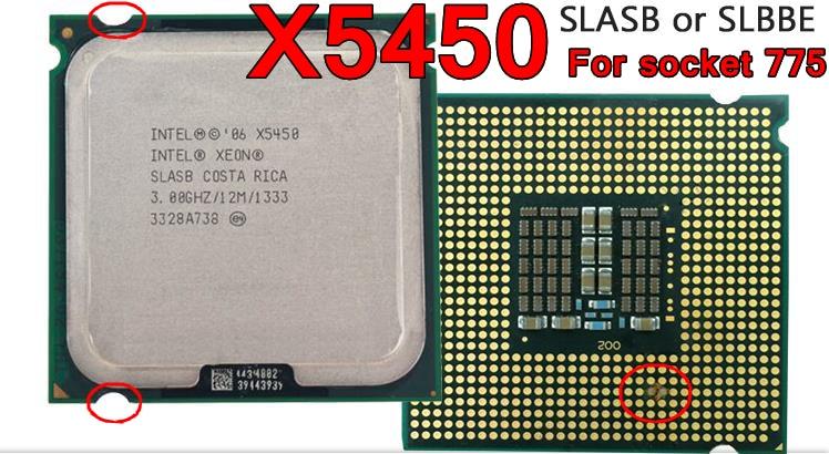 Original Intel CPU XEON X5450 Processor 3.00GHz/12M/1333 Quad-Core Works On LGA775 Close To Q9650 Free Shipping Speedy Ship Out